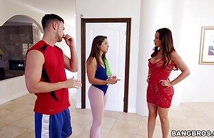 A lesbicas selvagem adolescente olha para ti enquanto te chupa a pila!